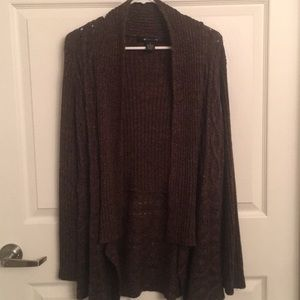 Dark brown woman's cardigan